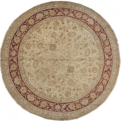 Round Mahal Style Area Rug 8.0x8.0 - 106922