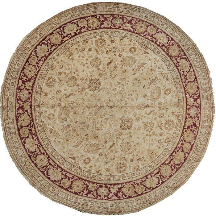 Round Mahal Style Area Rug 12.0x12.0 - 106924
