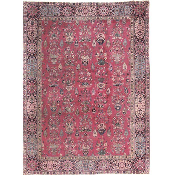 Antique Hand-woven Turkish Sparta Rug 9.9 x 13.4