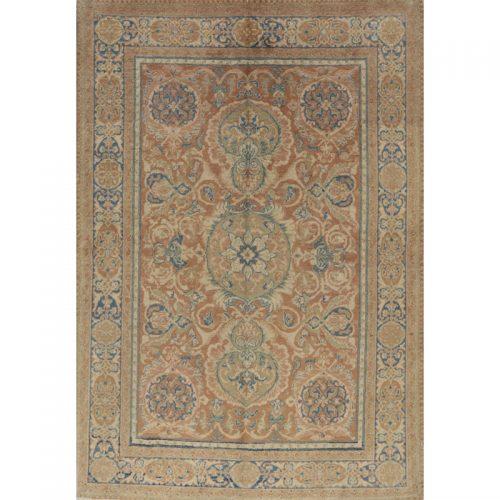 "4'0"" x 5'9"" Antique Persian Tabriz Rug - 108247"