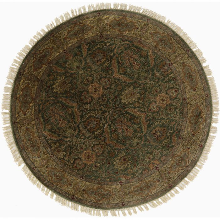 Round Indian Agra Area Rug 4.1x4.1 - 105414