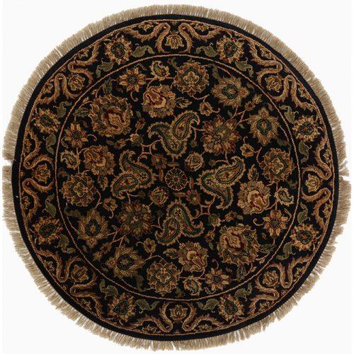 Round Agra Style Area Rug 4.0x4.0 - 105543