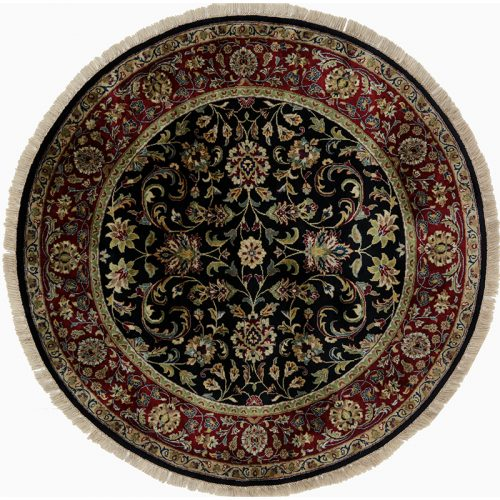 Round Persian Sarouk Farahan Style Area Rug 5.1x5.1 - 105776