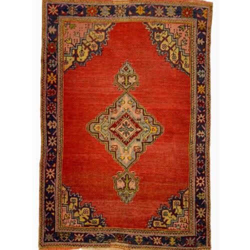 """4'4"""" x 6'0"""" Antique Turkish Oushak Rug - 102403"""