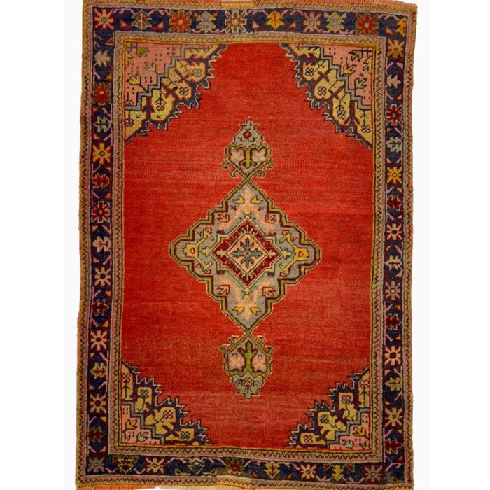 4x6 Antique Red Turkish Oushak Rug - 102403