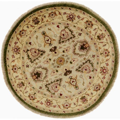 Round Agra Style Area Rug 4.0x4.0 - 106236