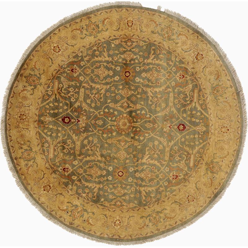 Round Agra Style Area Rug 6.0x6.1 - 106244
