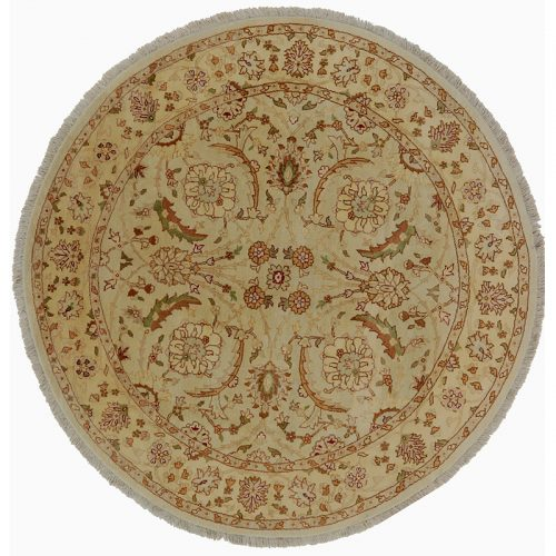 Round Agra Style Area Rug 6.0x6.1 - 106245