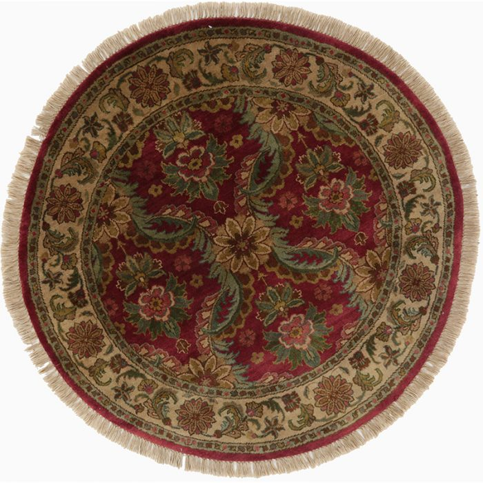 Round Mughal Style Area Rug 4.0x4.0 - 106977
