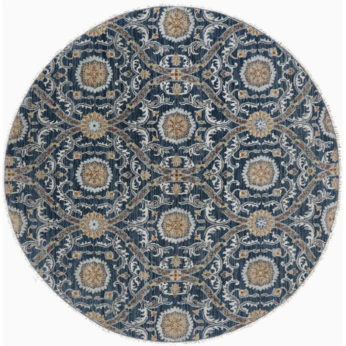 Round Transitional Style Area Rug 6.1x6.1 - 500387