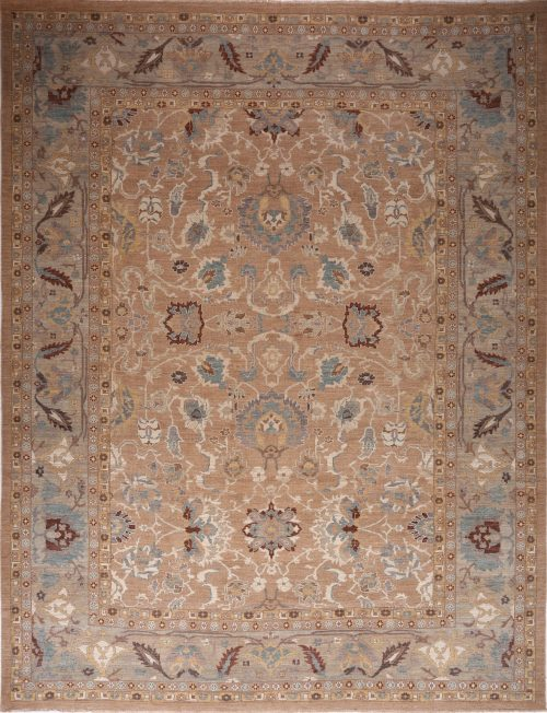 Traditional Handwoven Persian Sultanabad Rug 13.0x17.0