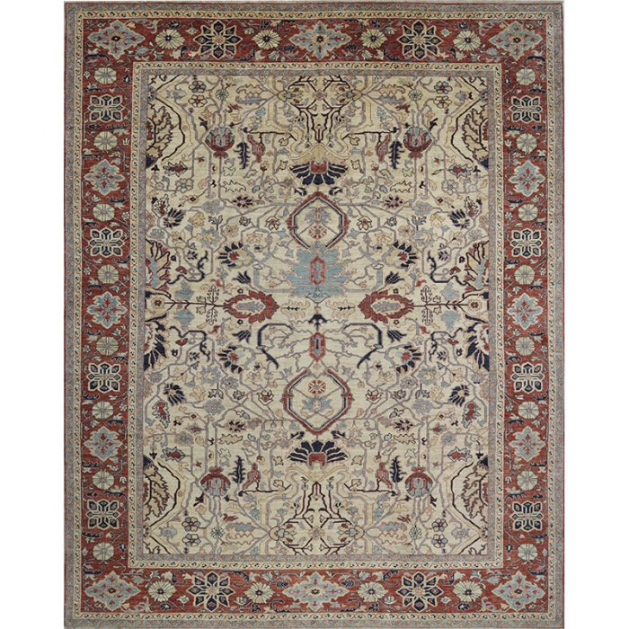 Traditional Hand-woven Persian Serapi Style Rug 11.8 x 14.10