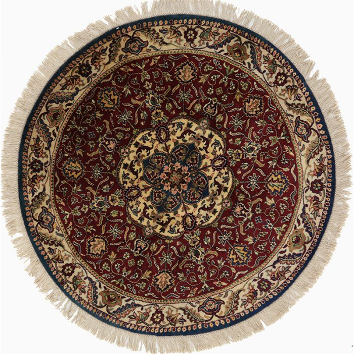 Round Mughal Style Area Rug 4.0x4.0 - 106130