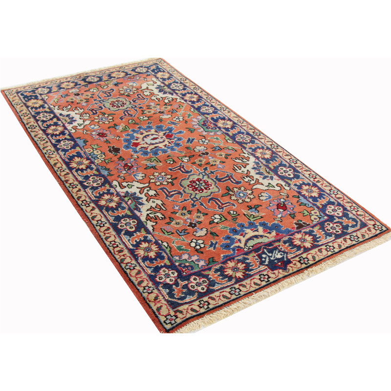 Old Handwoven Persian Tabriz Area Rug 2 6x4 7 107487
