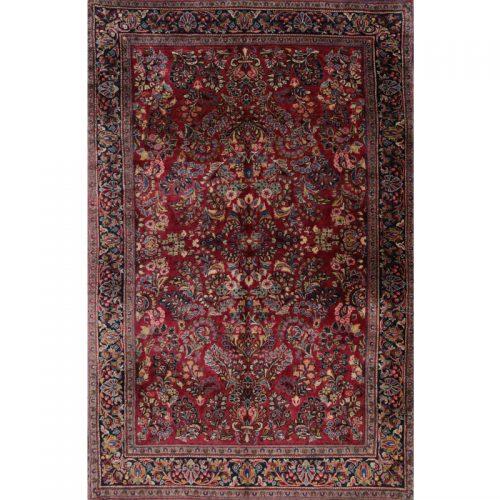 """4'2"""" x 6'5"""" Old Persian Sarouk Rug - 108537"""