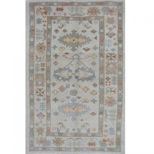 3x5 Ivory Turkish Oushak Rug -108762