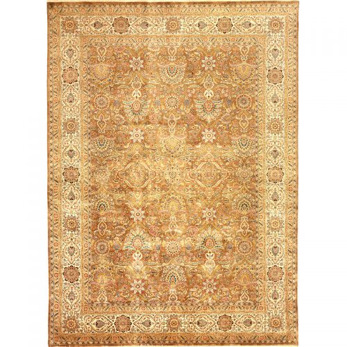 107123 - Traditional Hand-woven Persian Farahan Style Indo Rug 8.9 x 12.0
