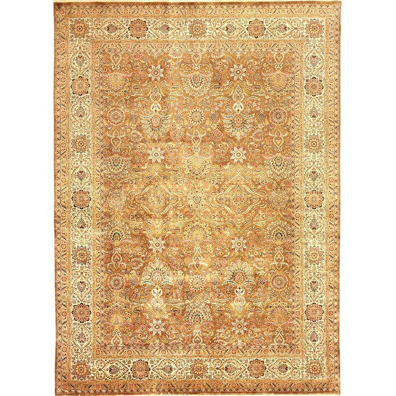 107123 - Traditional Hand-woven Persian Farahan Style Indo Rug 8.9 x 12.0