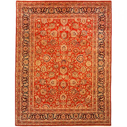 105710 – Traditional Hand-woven Persian Mashad Indo Rug 9.2 x 12.1