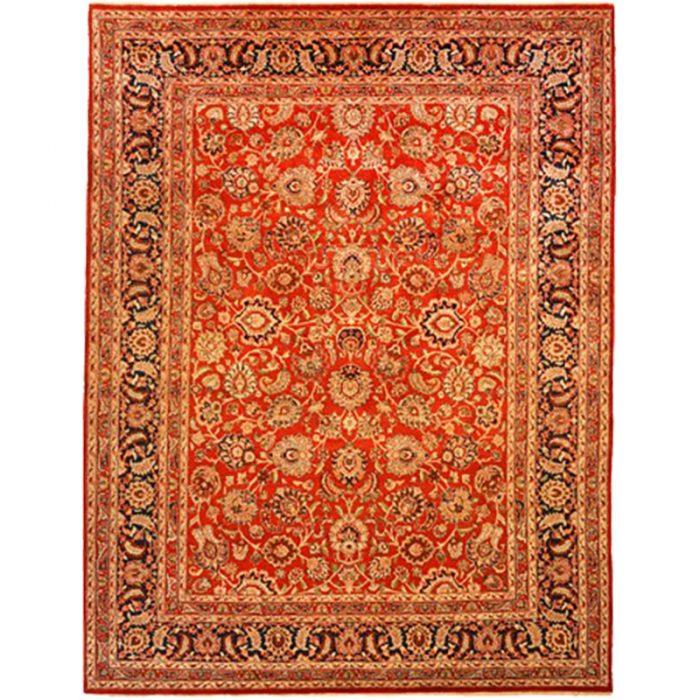 105710 – Traditional Hand-woven Persian Mashad Indo Rug 9.2 x 12.1