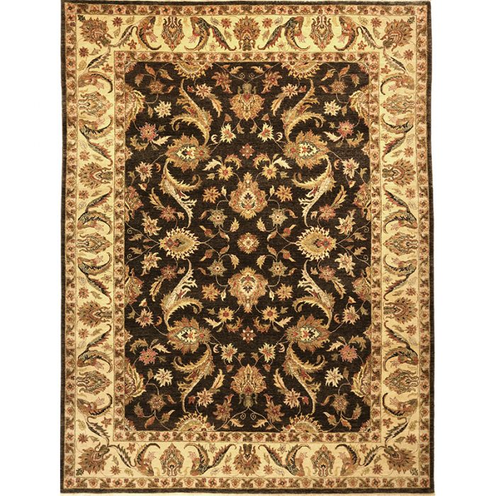 Traditional Hand-woven Indian Agra Rug 9.1 x 12.0 - 106202