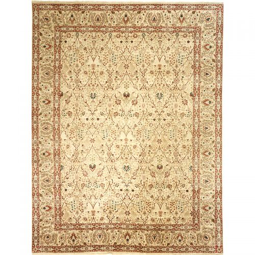 107547 – Traditional Hand-woven Indian Agra Rug 9.0 x 11.9