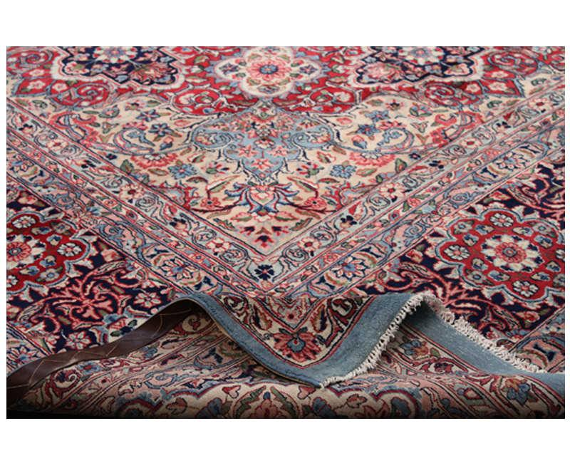 B500106 Traditional Old Handwoven Persian Kerman Area