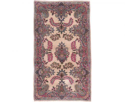 Traditional Old Handwoven Persian Kerman Area Rug 4.0x7.0 - 103225