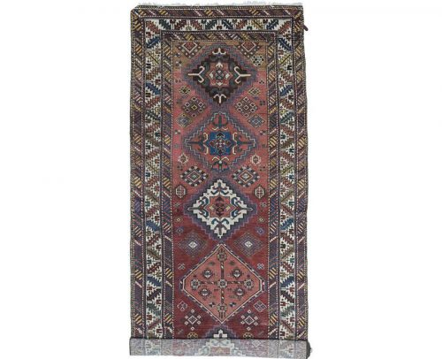 Antique Hand-woven Persian Malayer Rug 3.7 x 12.10 - 101397