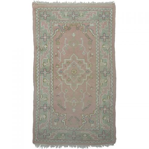 102390 – Handwoven Antique Turkish Oushak Rug 3.0×5.0