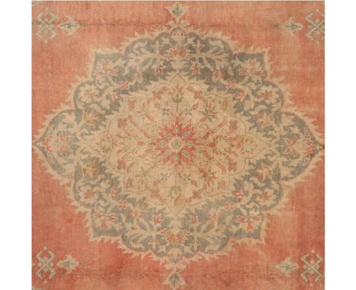 Antique Turkish Oushak Rug 9.6x13.4 - 106758
