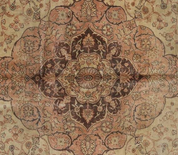 Old Handwoven Turkish Sivas Area Rug 7.8x10.0