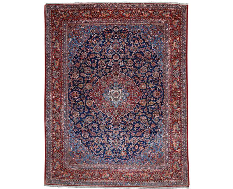 10x14 Old Persian Kashan Area Rug - 107463