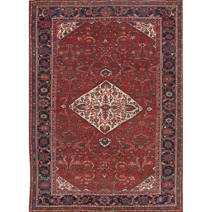 Traditional Antique Handwoven Persian Zigler- Mahal Rug 9.1x12.7