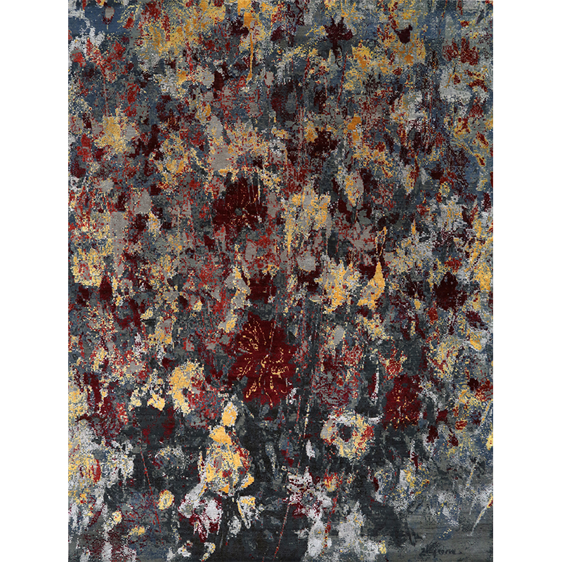 A108747 - Modern Abstract Area Rug 9.0x12.1