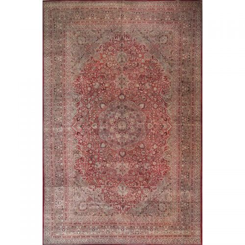 Traditional Antique Handwoven Persian Mashad Rug 13.0x20.3