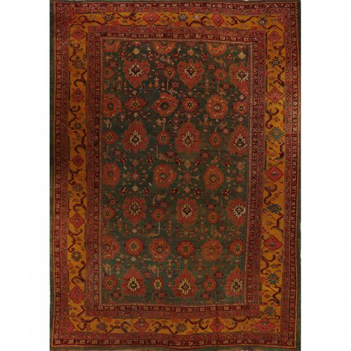 Antique Turkish Oushak Rug 12.9x18.0 - A107718