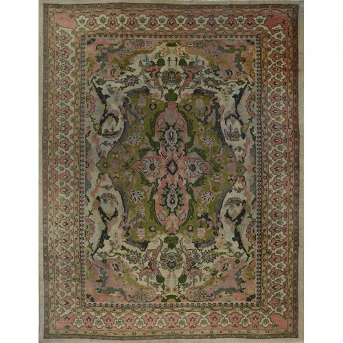 Antique Persian Sultanabad Rug 12.0x15.6 - A108787
