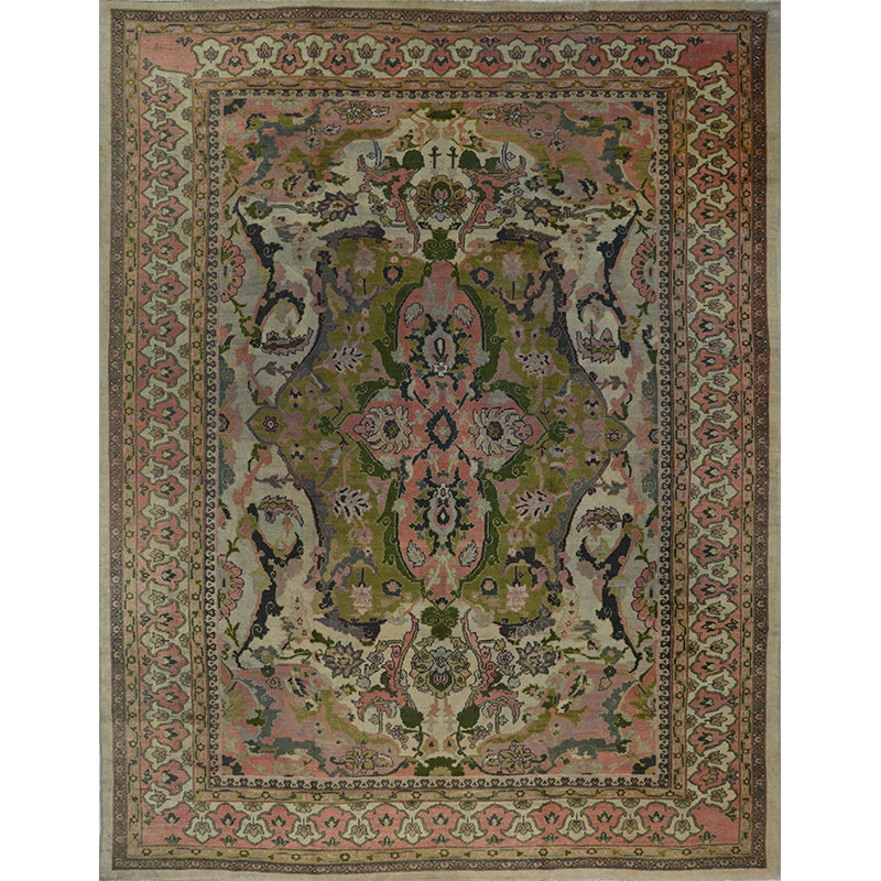 A108787 Antique Handwoven Persian Sultanabad Rug 12 0x15 6