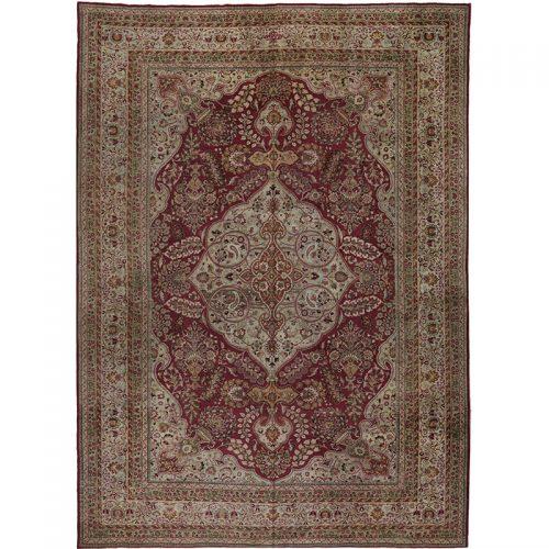 """11'8"""" x 16'6"""" Antique Persian Mashad Rug - 107460"""