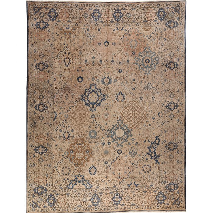 Antique Hand-woven Persian Tabriz Rug 10.3 x 13.9
