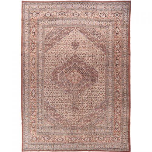 Antique Hand-woven Persian Tabriz Haj-Jalili Rug 13.1 x 18.4