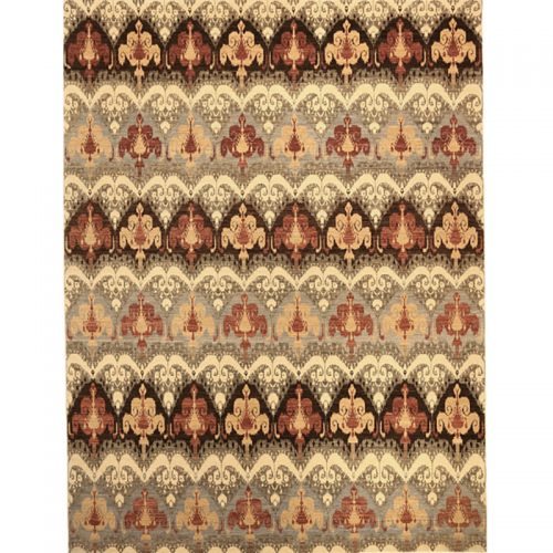 108508 - Handwoven Contemporary/Transitional  Pakistani Ikat Rug 9.4 x 12.4