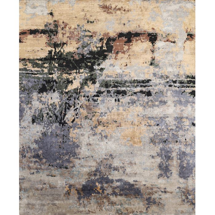 108732 - Contemporary/Transitional Hand-woven Bamboo Silk Rug 8.0 x 9.11