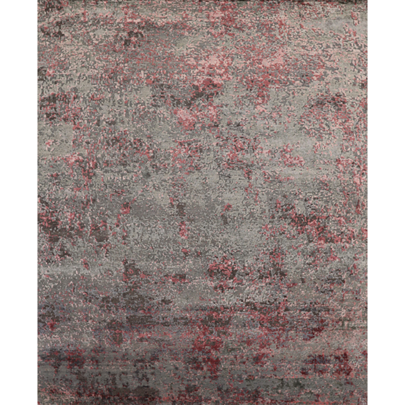 108738 - Contemporary/Transitional Hand-woven Bamboo Indian Rug 7.10 x 9.10
