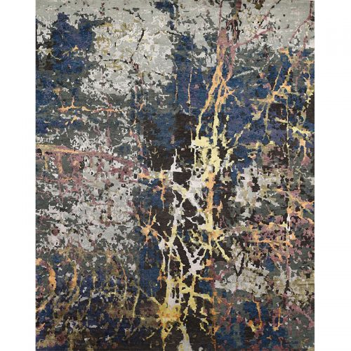 108743 - Contemporary/Transitional Hand-woven Bamboo Silk Rug 7.11 x 9.11
