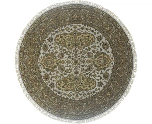 Round Mughal Style Area Rug 6.1x6.1 - 106211