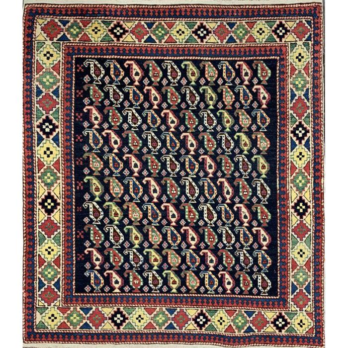 Old Russian Kazak Area Rug 4.6x5.1 - B101598