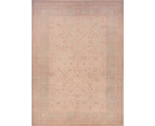 Traditional Handwoven Turkish Oushak Style Rug 10.3x13.11 - 108776