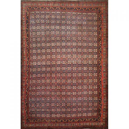 "13'0"" x 19'8"" Antique Persian Senneh Rug - 102516"